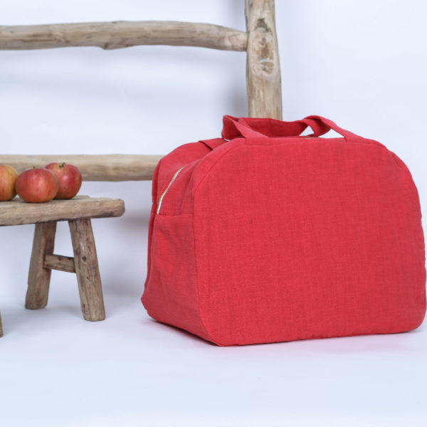 sac week-end rouge coquelicot