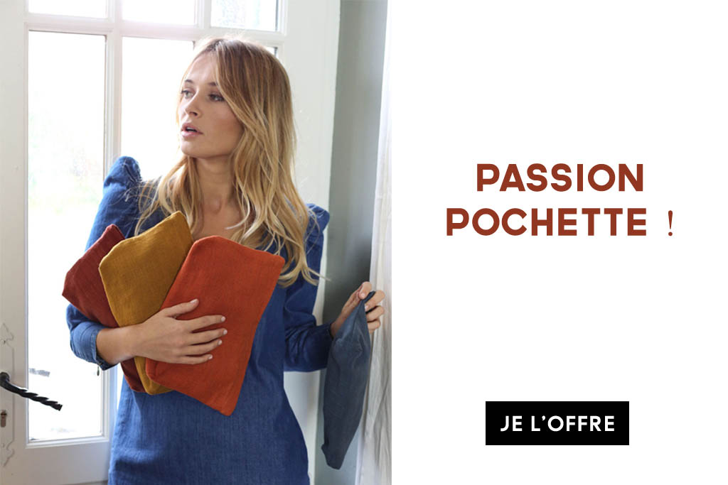 passion pochette en lin francais