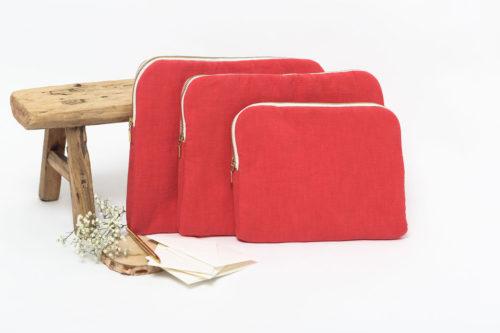 housse iPad rouge coquelicot
