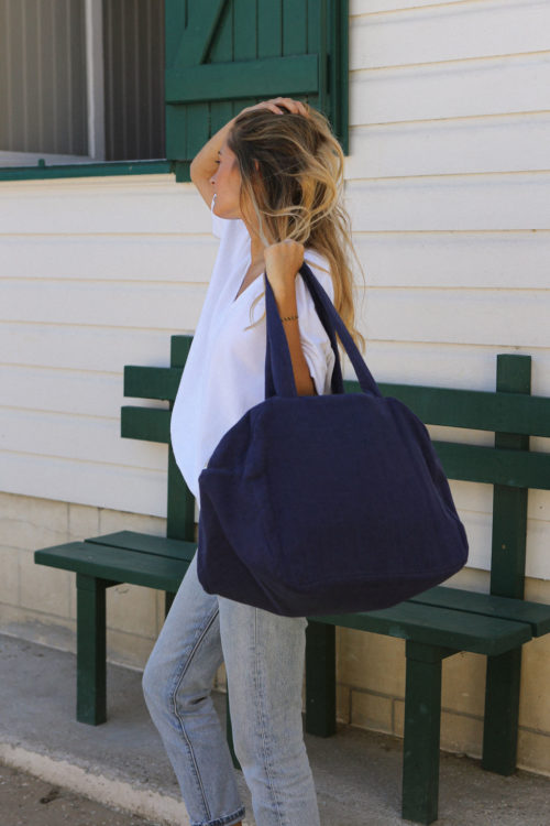 Sac weekend bleu paon
