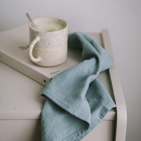 Serviette en lin Celadon